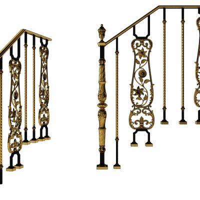 欧式铁艺楼梯护栏
