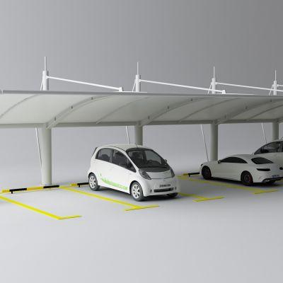 停车棚,停车场,汽车