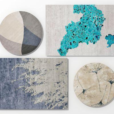 新中式地毯组合模型2012
