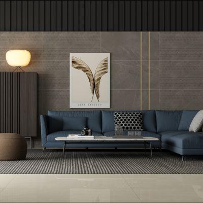转角多人沙发装饰架组合3D模型