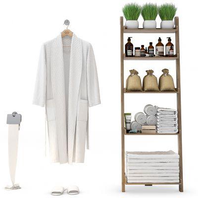 浴袍卫浴架毛巾组合