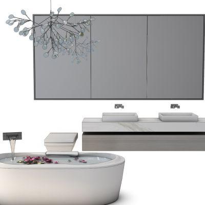 卫浴洗手台浴缸组合