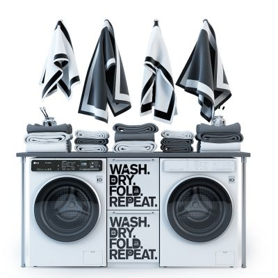 洗衣机毛巾衣服