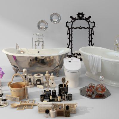 浴缸镜子洗漱用品