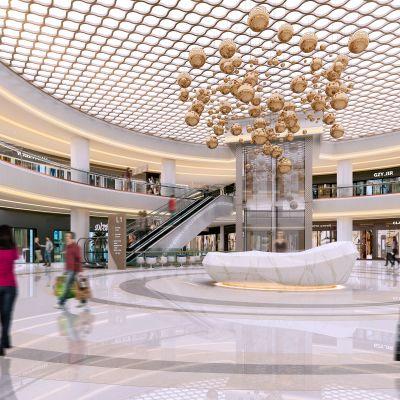 现代商场中庭模型3D模型