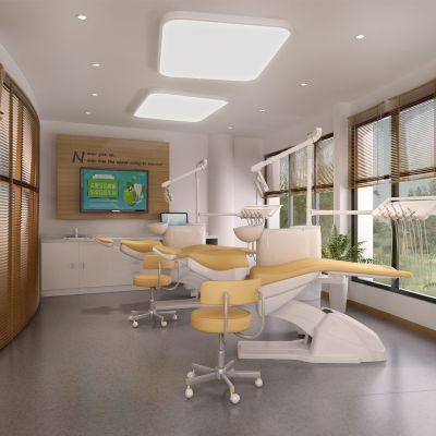 现代风格牙科医院模型
