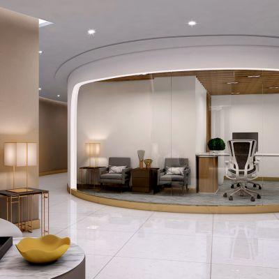 现代风格办公休息区模型