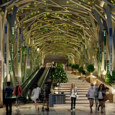 现代风格大型商场入口模型3D模型