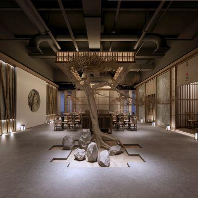 日式餐厅模型