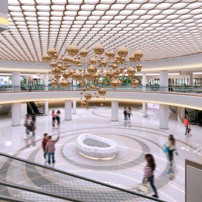 现代风格商场中庭模型3D模型