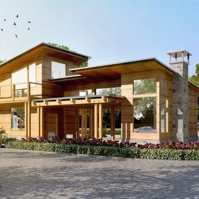 现代别墅外立面模型