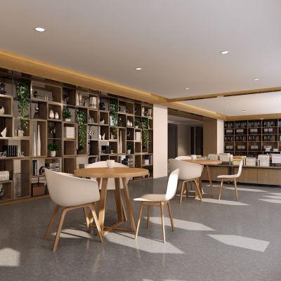 现代图书馆模型