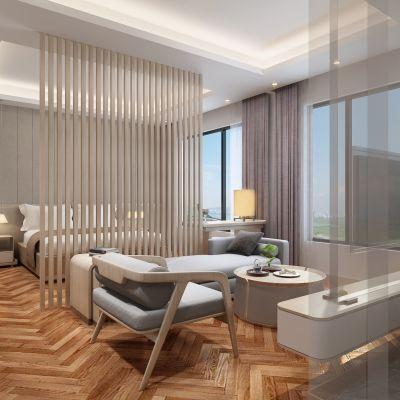 现代风格酒店客房模型3D模型