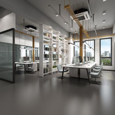 现代办公区会议室模型3D模型