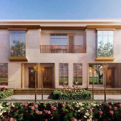 现代风格别墅外立面模型