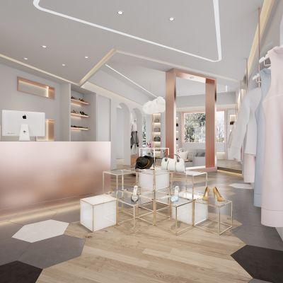 现代风格女装店模型