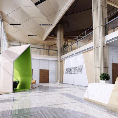 现代风格大厅模型3D模型
