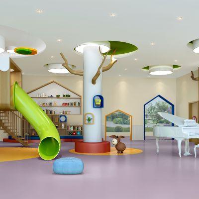 现代风格幼儿园活动区模型