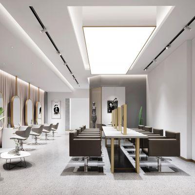 现代轻奢美发店模型3D模型