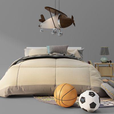 现代床足球篮球飞机吊灯