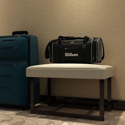现代酒店行李架行李箱组合3D模型