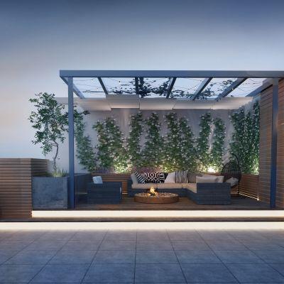 户外阳台屋顶花园