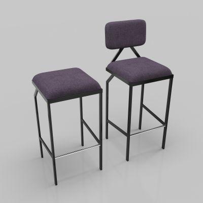 现代吧台椅模型