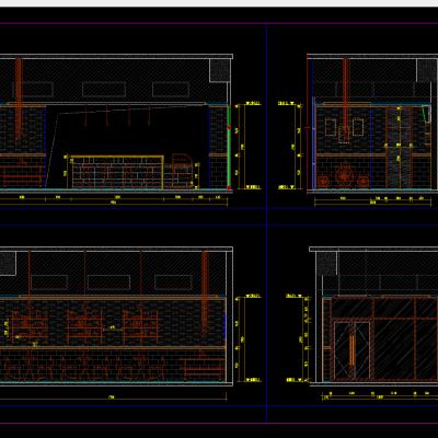 奶茶店CAD施工图CAD施工图