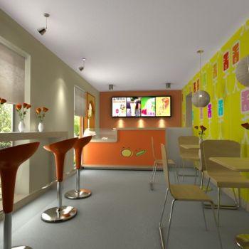 奶茶店喜茶茶颜悦色CAD施工图CAD施工图
