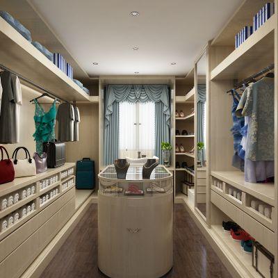 衣帽间,衣柜,衣服,裙子,首饰