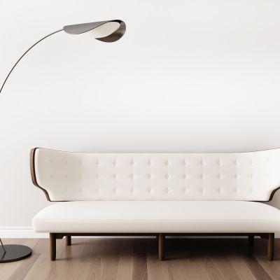 美式多人沙发落地灯组合