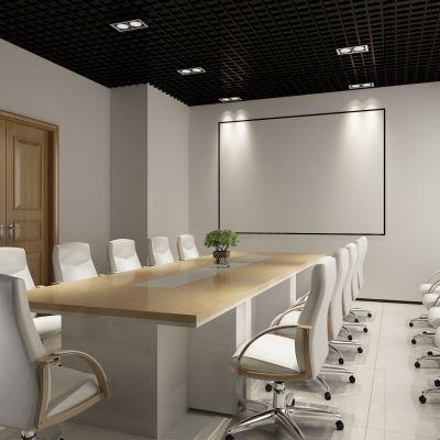 会议室,投影仪,办公桌