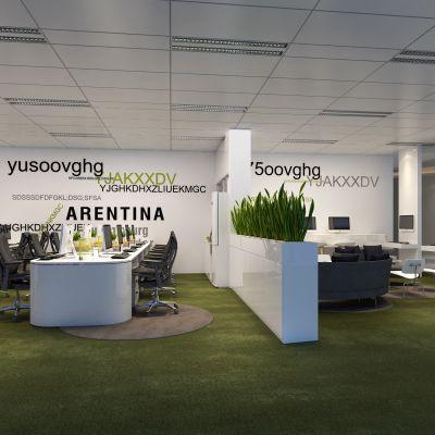 办公室,办公桌,大班台,皮革沙发