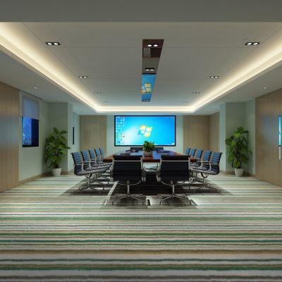 会议室,会议桌,投影仪