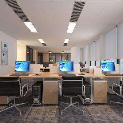 办公大厅,办公区,办公桌