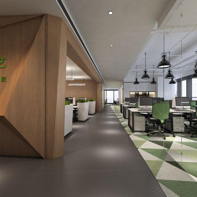 办公大厅,前台,办公桌
