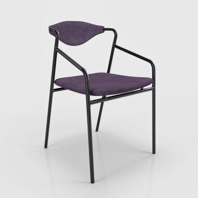现代单椅休闲椅餐椅模型