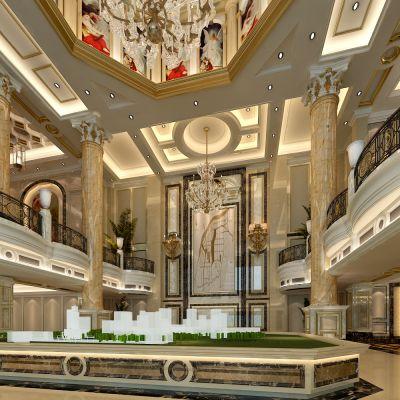 欧式新古典售楼处 会所CAD施工图