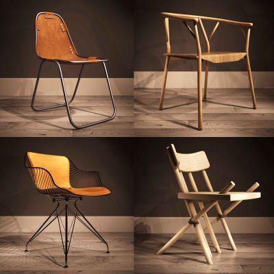 现代单椅椅子3D模型