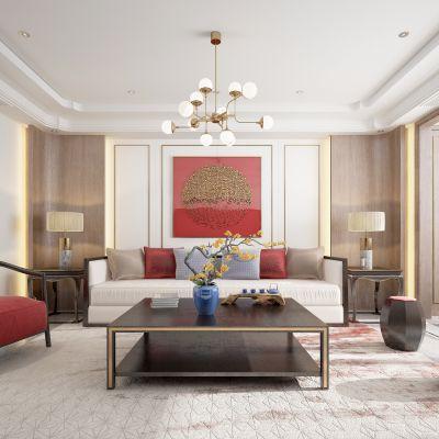 新中式客厅沙发组合