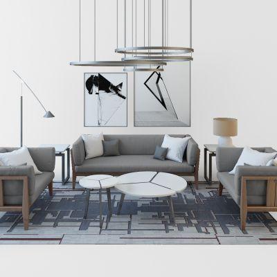 现代沙发组合沙发