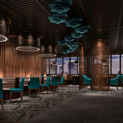 新中式主题餐厅3D模型