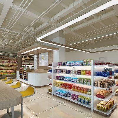 现代超市超市货架