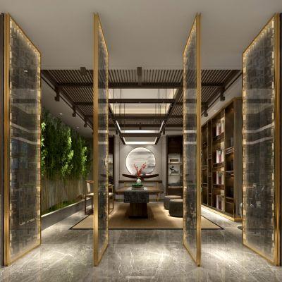 新中式风格茶馆3D模型