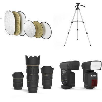 现代摄影棚 摄影设备组合3D模型