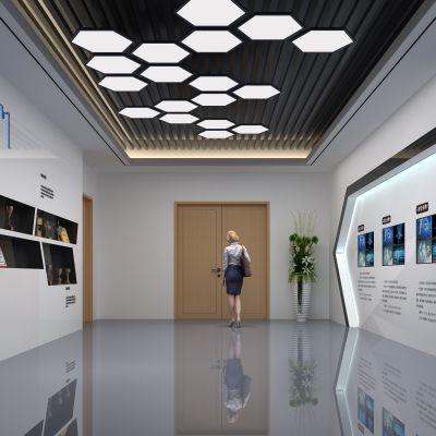 现代荣誉墙形象墙3D模型