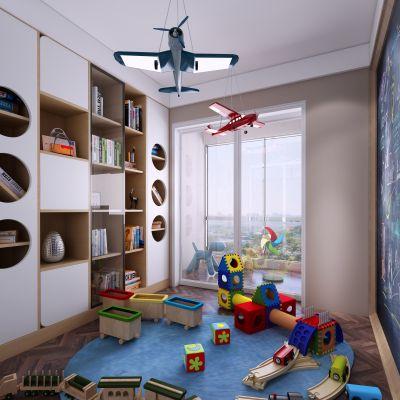 现代风格小孩玩具房3D模型