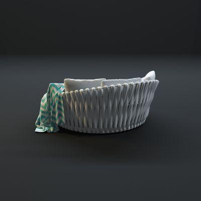 现代户外沙发3D模型