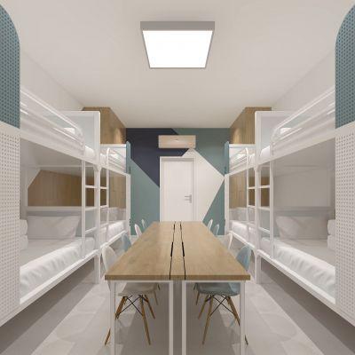 现代宿舍3D模型