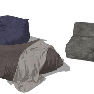懒人沙发3D模型